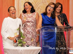 """""""Girl Squad"""" members--Sharyl Mackey, Jean Antoniou, Mary Pat Burns and Sheila O'Grady (missing from stage are Stacie McClane, Tracey Tarantino and Yvette Cusack)"""