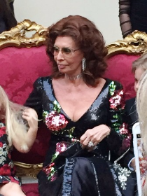 Sophia Loren, muse and honoree at Dolce & Gabban Alta Moda, Naples