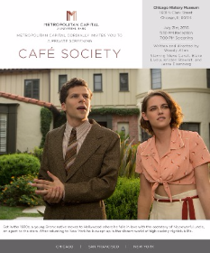 "The invite to ""Cafe Society"" premiere"