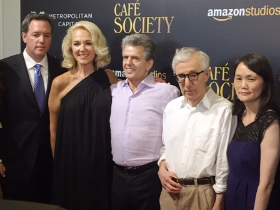 Michael Rose (chairman/CEO Metropolitan Capital), Athena and Ron Chez (executive producer), Woody and Soon-Yi