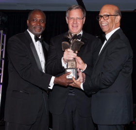 Michael Cox, UNCF regional development dir., David Casper, president/CEO BMO Harris Bank and Michael L. Lomax, UNCF pres/CEO