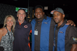 Sue and Kevin Spahn, Anthony Adams and Rashied Davis