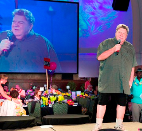 "George Wendt (""Norm"" from Cheers), who is on the H Fndtn.'s Honorary Board, gave a heartfelt speech about how cancer has touched his life"