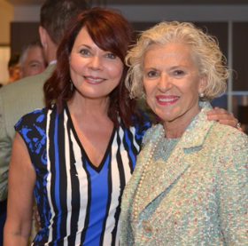 Susan Carlins and Justice Anne Burke (Photo by Galab Bankov)