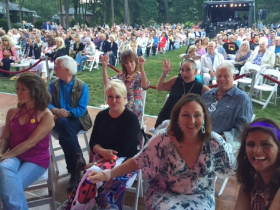 A crowd of over 700 enjoying an ABBA inspired concert