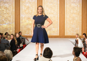 "Melissa Forman wears Escada on the runway for Service Club of Chicago's ""Day on the Terrace"""