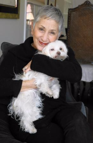 Puppy Mill Project founder Cari Meyers with her mill rescue dog Millie