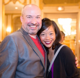 (l to r) Chicago Dancers United Anthony Guerrero with Jessica Tong