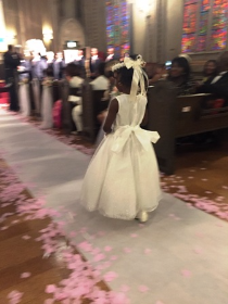And then, a little angel floated down the aisle--Miss Ja'niyah Gooden, grandniece of the bride.