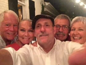 A selfie with friends Rod Lavender, Wade and Carolyn Teeter and my Chuck