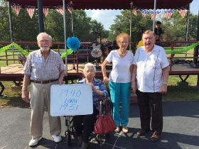 Members from the class of 1940 thru 1951 turned out to celebrate!