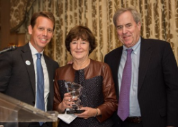 Tom and Diane Geraghty (R) receives UNICF Humanitarian Award