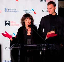 Actress/jury president Geraldine Chaplin and jury member David Verbeek