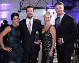 Sarah Wood, honoree Graham Allen, Brooke Allen and Kerry Wood