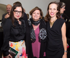 Audrey Peiper, 3Arts Board Chair Marcia Festen and Caroline Older