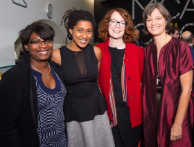 Tanya and Tomeka Reid (2016 3Arts Awardee), Alison Cuddy and Tricia Van Eck