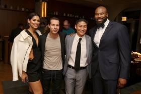 Our own Chicago star, Izzy Idonije, with cast members