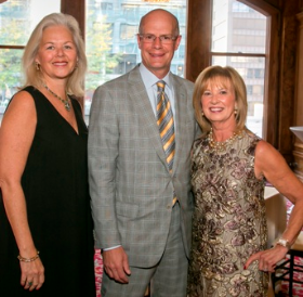 Elaine R. Leavenworth (Trustee/Co-Chair and Anthony F. Maggiore (Trustee/Co-Chair) with Joan Clifford (Board of Trustees Chair)