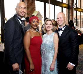 Markus Ford, Adiat Baker, Jennie and Darren Keller