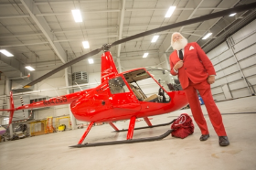 Santa and his new sleigh--a Chicago Helicopter Experience!