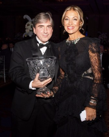 Eleni Bousis, chair of HCRF's founding board, honors Dr. Leonidas Platanias