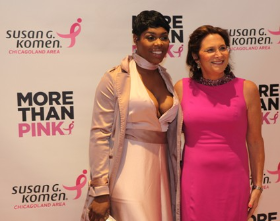 Ta'Rhonda Jones with Executive Director of Susan G Komen Chicago Bonnie Gordon