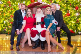 Tom Kehoe, Stacy Kolios, Santa, Alicia Skruba and David Murga