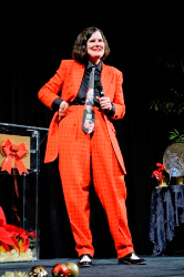 Comedian Paula Poundstone performed