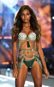 Jasmine Tookes wearing the $3 mil Fantasy Bra