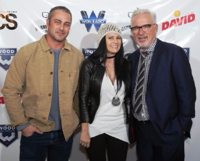 Taylor Kinny, Jaye and Joe Maddon