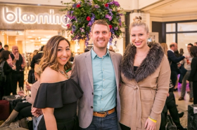 Stacey Kolios (Marketing Director, 900 North Michigan Shops), Eric Wilkerson (Development Dir., Equality Illinois), and Sarah Ryan (Editor, Modern Luxury Weddings)