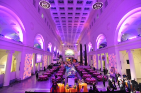 Beautiful lighting for Crystal Heart Ball at the Field Museum
