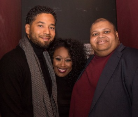 Jussie Smollett, Terisa Griffin and Randy Crumpton (event producer)