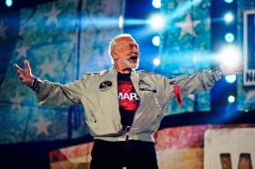 Buzz Aldrin--2nd man to walk on the moon.