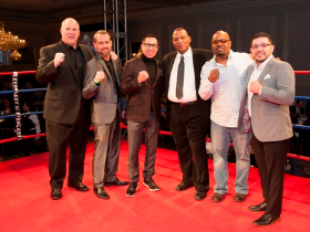 Boxing greats Bobby Hitz, Frank Scalise, Mike Garcia, Danelle Nicholson, LeRoy Murphy and David Diaz