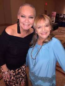 "With Lucy Ewing (""Dallas""), Charlene Tilton"