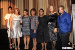 Honorees Toi Salter, Rona Fourte, Verna Hagler-Coleman, Congresswoman Maxine Waters, Merry Green, honorees Lisa Rollins and Lori Lightfoot