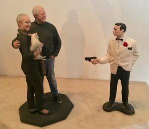 When toys collide--being held up by a mini James Bond