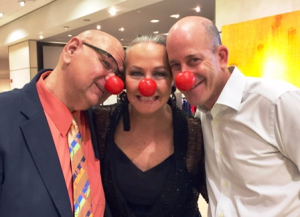Clowning around with Ravinia's Nick Pullia and WCIU's Rob Morhaim