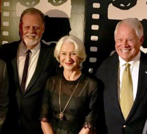 Honorees Taylor Hackford and Helen Mirren with my handsome star, Chuck Jordan.