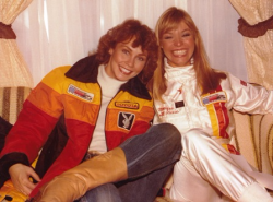 With Monique St. Pierre at Toyota Watkins Glen Grand Prix--Oct. 1980