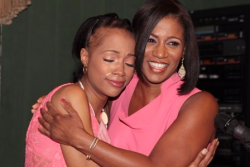 Keandria Washington is overcome with emotion with CEO Dara Munson