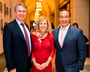 Ken Griffin, chair Susan Levy and Oscar Munoz