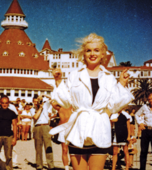 "Marilyn Monroe filmed ""Some Like it Hot"" at the Del!"