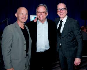 Former Artistic Director Jim Vincent, left, Founding Artistic Director Lou Conte, and Artistic Director, Glenn Edgerton