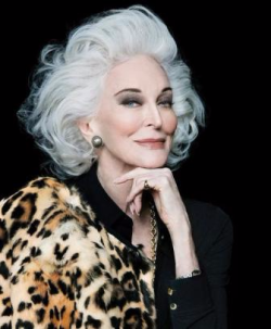 Model Carmen dell' Orifice, the epitome of ageless beauty at 86!