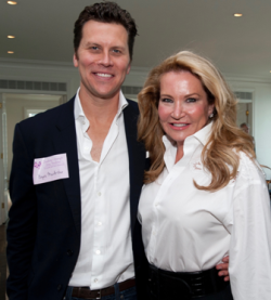 Hayes MacArthur with his aunt Shauna Montgomery
