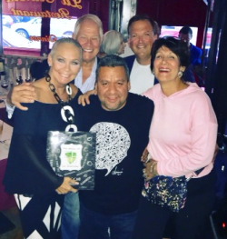 Celebrating the book with Armando, Chuck, Paul Iacono and Maria Pappas