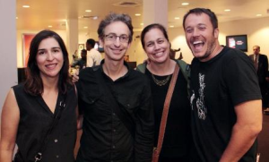 New artistic director Mimi Plauché (2nd from R) with friends