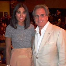 Designer Azeeza Khan with Joe Perillo